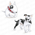 Bild 1 von Gummistempel Stamping Bella Cling Stamp STAFFIE AND ENGLISH BULL TERRIER RUBBER STAMPS