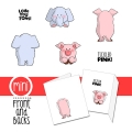 Art Impressions Stempelgummi Mini Front & Backs 	Elephant & Pig Set