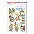 Stampendous Perfectly Clear Stamps - Gnome Beach - Gnome am Strand