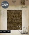Sizzix Texture Fades A2 Embossing Folder Croc By Tim Holtz