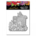 Stampendous Cling Stamp Gummistempel Laurel Burch Lion With Bird