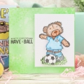 Bild 4 von For the love of...Stamps by Hunkydory - Clearstamps Teddy Loves... Football