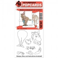 Art Impressions Clearstamps PopCard Horse