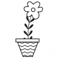 Snag 'Em Clearstamp Flower Pot