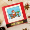 Bild 2 von For the love of...Stamps by Hunkydory - Happy Town Clear Stamp - Mr & Mrs Claus