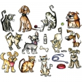 Sizzix Framelits Mini Dies Crazy Cats & Dogs By Tim Holtz