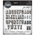 Sizzix Thinlits Dies Stanzschablone By Tim Holtz Alphanumeric Shadow Upper