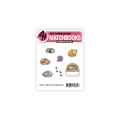 Art Impressions Clear Stamps with dies MB Cat Accessories - Stempelset inkl. Stanzen