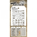 Tim Holtz Collection Schablone Mini Layering Stencil Set #01