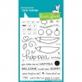 Lawn Fawn Clear Stamps  - Be Hap-Pea