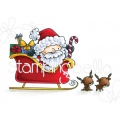 Gummistempel-Stamping-Bella-Cling-Stamp-THE-LITTLES-SANTA-AND-HIS-REINDEER