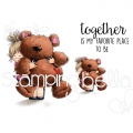 Gummistempel Stamping Bella Cling Stamp SQUIDGY AND TEDDY RUBBER STAMPS