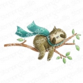 Gummistempel Stamping Bella Cling Stamp SLOTH ON A BRANCH