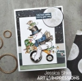 Bild 2 von Art Impressions Clear Stamps with dies Snowman Wheelie