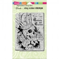 Cling-Rubber-Stamps---Crowned-Skull-Rubber-Stamp