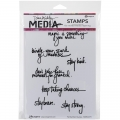 Dina Wakley Media Cling Stamps - Handwritten Quotes