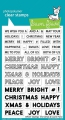 Lawn Fawn Clear Stamps  - Clearstamp offset sayings: christmas