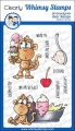 Whimsy Stamps Clear Stamps  - Monkey Sundae -  Affen Eisbecher
