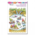 Stampendous Perfectly Clear Stamps - Gnome Pool - Gnome am Pool