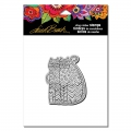 Stampendous Cling Stamp Gummistempel Laurel Burch Zigzag Cats