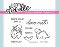 Heffy Doodle Clear Stamps  - Dinky Dinos - Stempel Dinosaurier