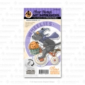Art Impressions Clear Stamps with dies Halloween Cat Wheelie