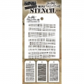 Tim Holtz Collection Schablone Mini Layering Stencil Set #34