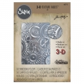 Sizzix 3D Texture Fades Embossing Folder By Tim Holtz - 3D Prägefolder Mechanics