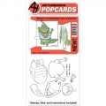 Art Impressions Clearstamps PopCard Gator