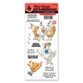 Art Impressions Clearstamps Spring Chicken Set