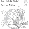 The Rabbit Hole Designs Clear Stamps - Cocktail Witch - Hexe
