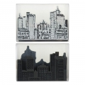 Stampendous Urban Scribble Foam Stamp, Cling Rubber and Stencil Set