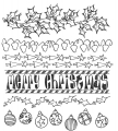 Dylusions Gummistempel Christmas Borders