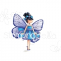 Gummistempel Stamping Bella Cling Stamp TINY TOWNIE BUTTERFLY GIRL BLANCHE RUBBER STAMP