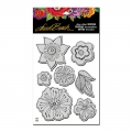 Stampendous Cling Stamp Gummistempel Laurel Burch Blossoms Stamp Set