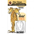 Art Impressions Clearstamps  und Stanzen - Twist Ties Stamp & Die Set - Giraffe