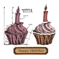 Bild 2 von Tim Holtz Alterations Stanzschablonen- und Stempelset Framelits & Stamps Birthday Blueprint