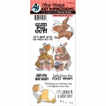 Art Impressions Clearstamps  Funny Farm Guinea Pig Ou