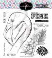 Bild 1 von Colorado Craft Company Clear Stamps - Big & Bold~Tickled Pink Flamingo