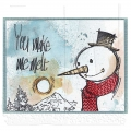 Bild 2 von The Art of Brett Weldele Cling Mount Stamps Gummistempel - Blizzy the Happy Snowman