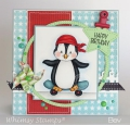 Bild 2 von Whimsy Stamps Clear Stamps  - Penguin Life's a Beach - Pinguine am Strand