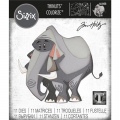 Sizzix Thinlits Dies Stanzschablone By Tim Holtz Clarence, Colorize