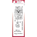 WOODWARE Clearstamps  Clear Magic Singles - Bauble Owl - Weihnachten Eule