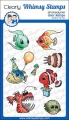 Whimsy Stamps Clear Stamps  - Best Fishes - Party Fische