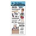 Art Impressions Clearstamps Teachers Rule Set