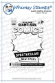 Whimsy Stamps Rubber Cling Stamp  - Comic Book Page Gummistempel Comicheftseite