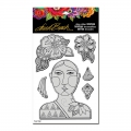 Stampendous Cling Stamp Gummistempel Laurel Burch Blossoming Woman Stamp Set