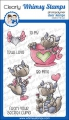 Whimsy Stamps Clear Stamps - Dudley's Valentine - Drache