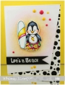 Bild 3 von Whimsy Stamps Clear Stamps  - Penguin Life's a Beach - Pinguine am Strand
