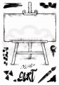 WOODWARE Clearstamps  Clear Magic Singles Art Easel A5 Stamp